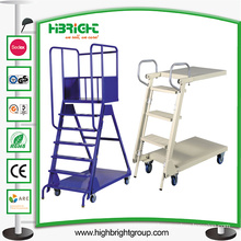 Step Ladder for Supermarket Use with Plateform