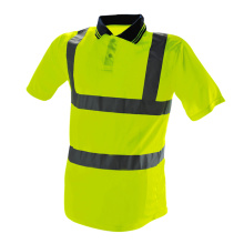 Hi Viz Long Sleeve Industry Worker POLO Shirt