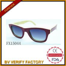 Alibaba comércio garantia Polariod Woode óculos de sol (FX15044)