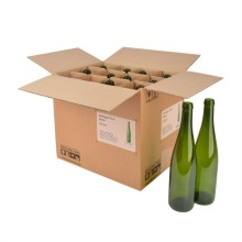 Cheap for Bottle Paper Packaging Cartons Cardboard Bottle Boxes with Divider supply to India Manufacturers