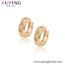 96906 xuping fashion simple design gold plated hoop women earring