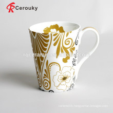 Hot selling custom logo new bone china mug