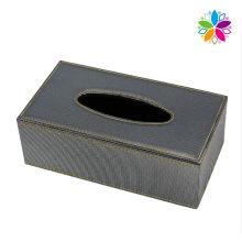 Boîte en tissu rectangulaire en cuir recouvert (ZJH067)