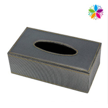 Leather Covered Rectangle Tissue Box (ZJH067)