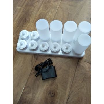 4/6/12 set murah rechargeble membawa lilin tealight borong