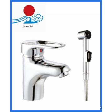 Agua caliente y fría lavabo grifo de agua del mezclador (ZR22002-1)