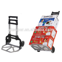 Heavy duty warehouse hand cart push truck made in china folding hand trolley