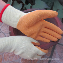 Latex Coated Hand Protection Safety Rigger Cotton Work Gloves