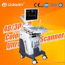 Doppler en color 3D C80 Dawei & trolley Escáner en 2D para ultrasonido portátil para el embarazo y el hígado riñón del feto