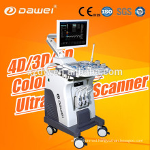 3D color doppler C80 Dawei & trolley 2D laptop ultrasound scanner for pregnancy and fetus liver kidney