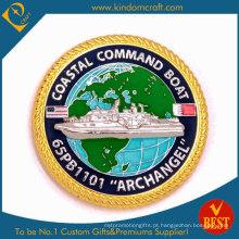 Personalizado nos Coast Guarder Gold Lembrança Moeda (KD-305)