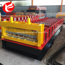 Color steel corrugated tile roll forming machine