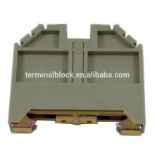 TF-ECH Grau / Blau 35mm Din Rail Mounted Din Rail End Halterung Klemme