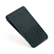 Luxury Green Carbon Fiber Money Clips Cash Clip