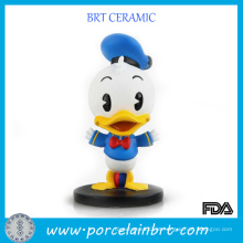 Resina para decoração de mesa de pato de desenho animado infantil