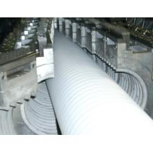 PET / PVC-einzelne / doppelte Wand-gewölbte Rohr-Produktions-Verdrängungs-Maschinen-Linie