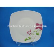 Plato de cerámica cuadrado de fruta