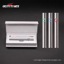 High-end Style  CBD OEM Vape Starter Kit Flip Box EVA Insert Custom Vape Pen Box Packaging