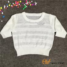 100% कपास गर्मी स्वेटर बेबी लड़कियों के लिए पतली