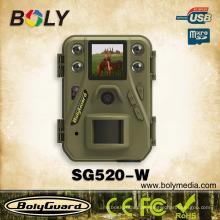 Kleinste wifi Nachtsicht Jagd-Spiel-Kameras SG520-W mit 12 Megapixel 720P HD Video 85 Fuß Erkennungsbereich