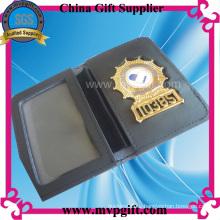 Металлический значок полиции с держателем кошелька