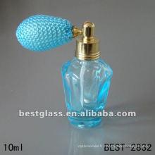Bouteille en verre de 10 ml, bouteille de parfum avec puffer bleu, vous pouvez nous envoyer votre conception