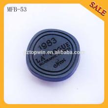 MFB53 Touches personnalisées en caoutchouc en métal boutons-pression logo personnalisé