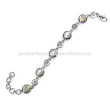 Joyería hermosa de la pulsera de la plata esterlina de la piedra preciosa