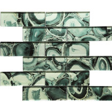 Green Cold Spray Swimming Pool Crystal Mosaic for Wall Kitchen Bathroom