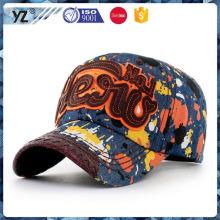 Factory sale custom design cheap logo printed baseball cap 2015