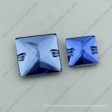 Light Sapphire Saqure Nähen auf Steinen (DZ-3068)