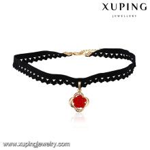 43707 горячая продажа популярные дамы ювелирные изделия мульти камень мощеные круглый ожерелье колье