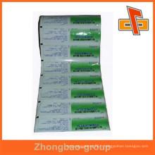 Emballage flexible multicouche imprimé en aluminium laminé sac de rouleau de film pour fournisseurs alimentaires Chine