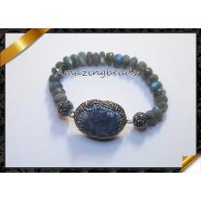 Labradorita frisado pulseiras, quente mulheres / homens pulseira (CB019)