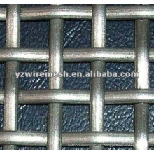 Malla de alambre ondulada tejida plana (material de construcción)