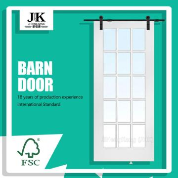 JHK Panel Design Door Internal Wooden White Barn Door