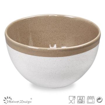 Taça de Cerâmica de 14cm Dois Tamanhos Glazewhite e Marrom com Aro