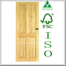 Porte en placage de bois design classique Yas359