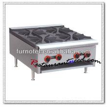 K121 acier inoxydable 4 brûleurs argile pot cuisinière à gaz commerciale