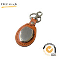 Leather Keychain with Blank Metal for Logo (Y02087)