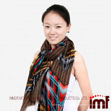 2014 New Style Inner Mongolia Spider Print Wool Scarf and Stoles