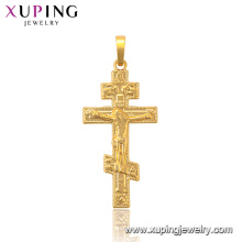 34025 xuping 24k gold plated religious wholesale Jesus cross pendant