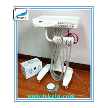 Chariot d'unité dentaire mobile sans compresseur