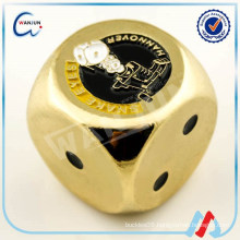 six sides zinc alloy gold dice