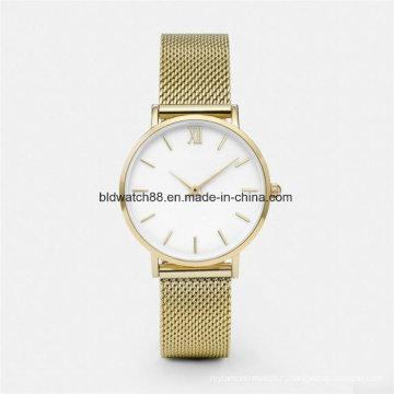 OEM Классицистическое высокое качество сетки ремешок часы Корпус из нержавеющей стали