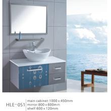 Cabinet miroir à la vente chaude Vanité de salle de bain en acier inoxydable