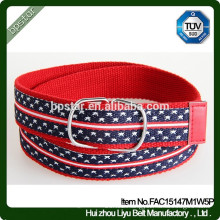 Fashionable Casual Double Buckle Ring Canvas Belt For Women/Mulher cinto de Lona