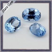 Яркий синий цвет овальной формы синтетическая шпинель