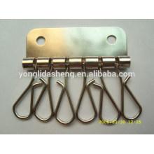 Custom um conjunto de metal de alta qualidade chaveiro
