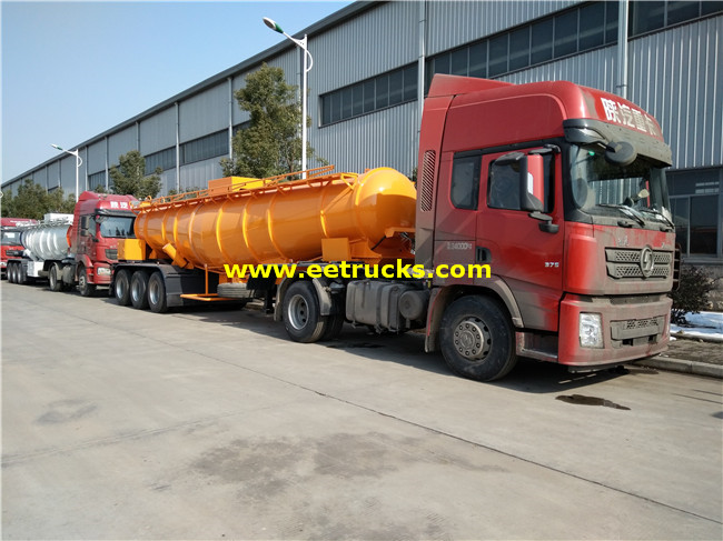 Steel Sulfuric Acid Delivery Tanker Trailers